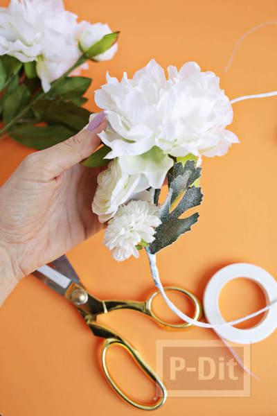 รูป 6 มงกุฎดอกไม้ ทำเอง จากเส้นลวด