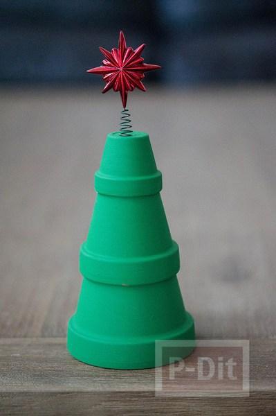 รูป 4 ต้นคริสต์มาส ทำจากกระถางต้นไม้ สวยๆ