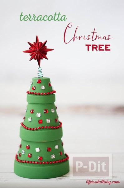 รูป 7 ต้นคริสต์มาส ทำจากกระถางต้นไม้ สวยๆ
