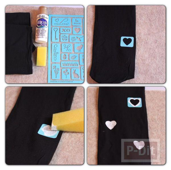 รูป 2 ไอเดียตกแต่งถุงน่อง เลคกิ้ง ลายหัวใจ