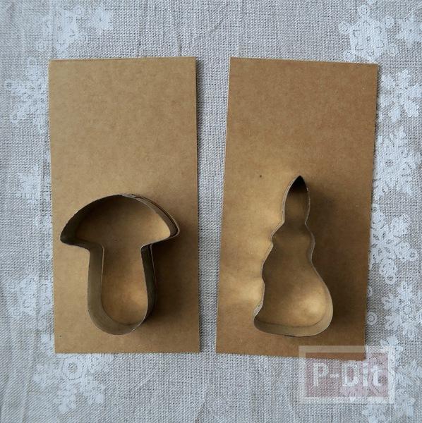 รูป 2 ไอเดียทำการ์ดคริสต์มาส ต้นเห็ดกับกระต่ายน้อยน่ารักๆ