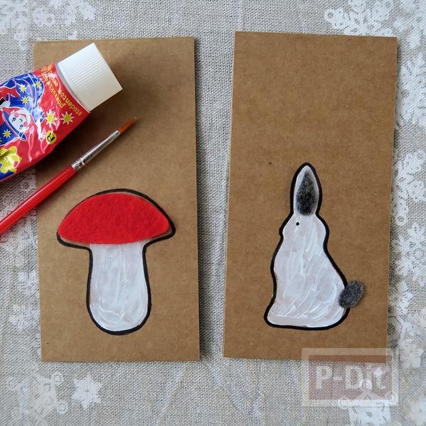 รูป 7 ไอเดียทำการ์ดคริสต์มาส ต้นเห็ดกับกระต่ายน้อยน่ารักๆ