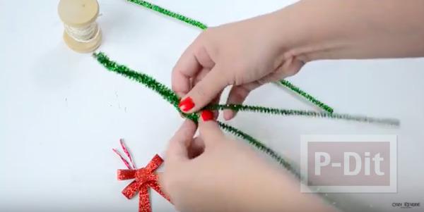 รูป 3 มิกกี้เมาส์ ทำจากลวดกำมะหยี่ ประดับต้นคริสต์มาส