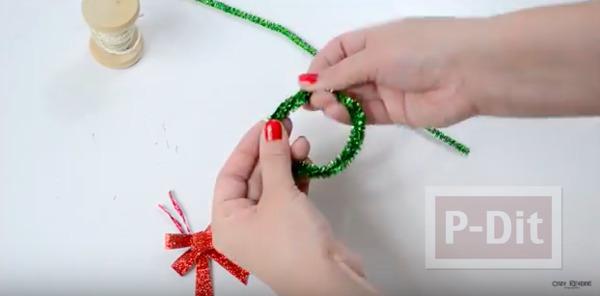 รูป 4 มิกกี้เมาส์ ทำจากลวดกำมะหยี่ ประดับต้นคริสต์มาส