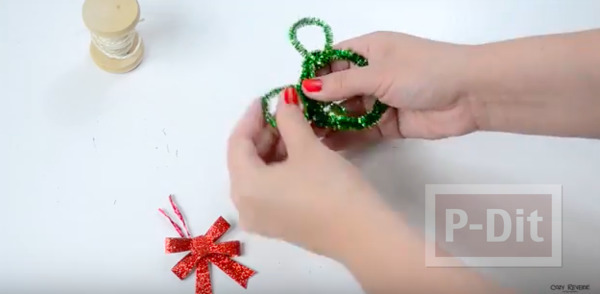 รูป 5 มิกกี้เมาส์ ทำจากลวดกำมะหยี่ ประดับต้นคริสต์มาส
