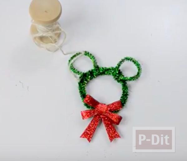 รูป 6 มิกกี้เมาส์ ทำจากลวดกำมะหยี่ ประดับต้นคริสต์มาส