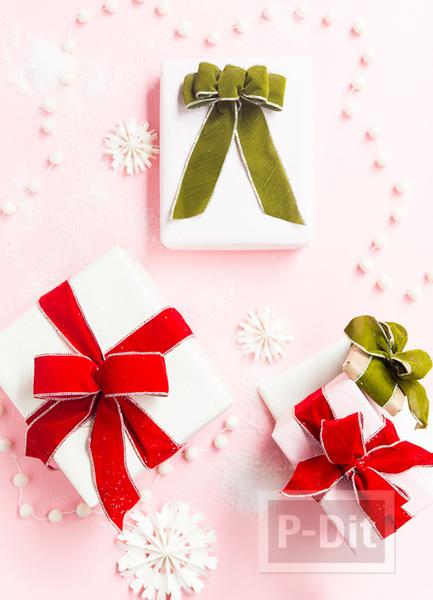 รูป 1 ไอเดียผูกโบว์ห่อกล่องของขวัญ เทศกาลปีใหม่ คริสต์มาส