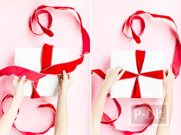 รูป 6 ไอเดียผูกโบว์ห่อกล่องของขวัญ เทศกาลปีใหม่ คริสต์มาส