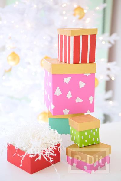 รูป 1 ไอเดียระบายสีกล่องของขวัญ ตกแต่งลายน่ารักๆ