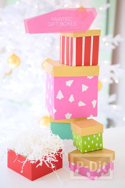 รูป 6 ไอเดียระบายสีกล่องของขวัญ ตกแต่งลายน่ารักๆ