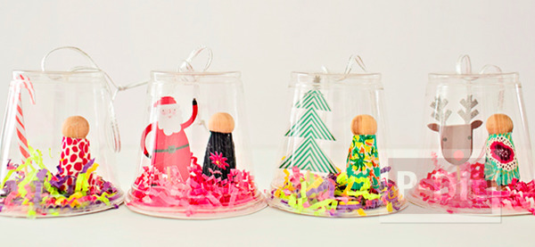 โมบายประดับต้นคริสต์มาส ทำจากแก้วพลาสติก
