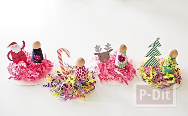 รูป 2 โมบายประดับต้นคริสต์มาส ทำจากแก้วพลาสติก