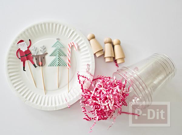 รูป 5 โมบายประดับต้นคริสต์มาส ทำจากแก้วพลาสติก