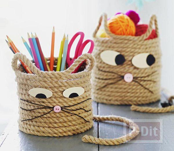 สอนทำที่ใส่ดินสอ จากเชือก ตกแต่งเป็นกระต่าย
