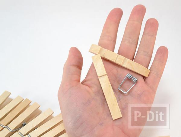 รูป 2 สอนทำที่วางหม้อ จากไม้หนีบผ้า (แบบไม้)
