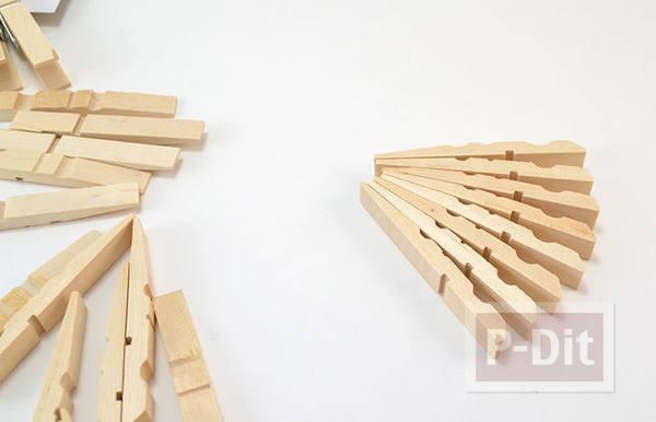 รูป 3 สอนทำที่วางหม้อ จากไม้หนีบผ้า (แบบไม้)
