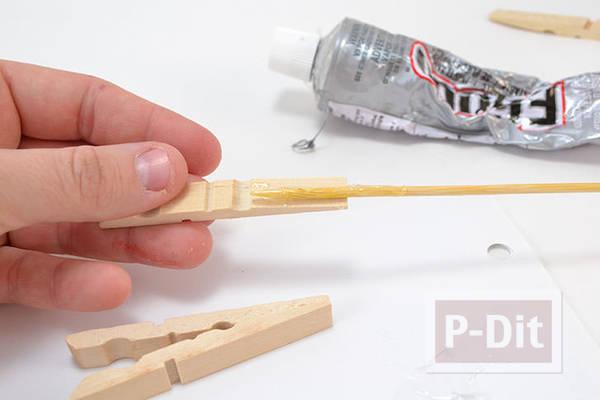 รูป 4 สอนทำที่วางหม้อ จากไม้หนีบผ้า (แบบไม้)