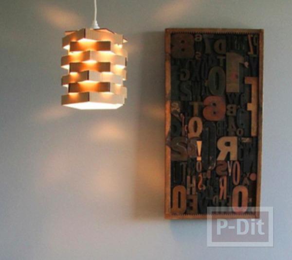 รูป 4 โคมไฟสวยๆ ทำจากกระดาษลัง