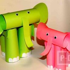 สอนทำช้างกระดาษ น่ารักๆ จากกระดาษ A5
