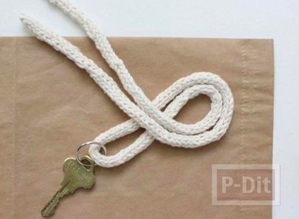 รูป 3 สอนทำพวงกุญแจ จากเชือกเส้นเล็กแบบง่ายๆ พันลายสวย