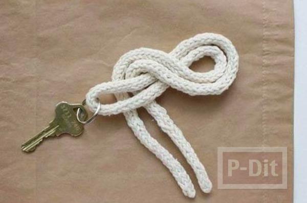 รูป 4 สอนทำพวงกุญแจ จากเชือกเส้นเล็กแบบง่ายๆ พันลายสวย
