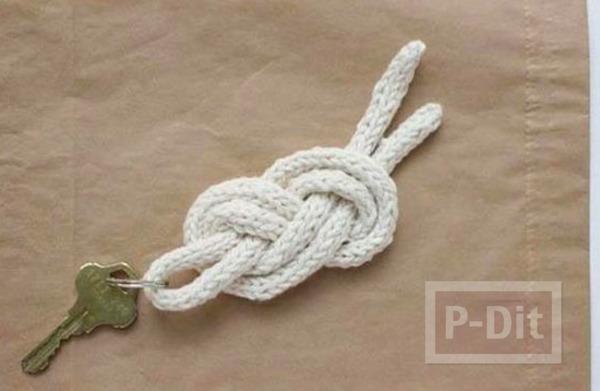รูป 6 สอนทำพวงกุญแจ จากเชือกเส้นเล็กแบบง่ายๆ พันลายสวย