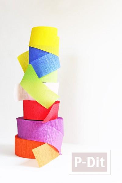 รูป 3 กำไลข้อมือ ทำจากกระดาษย่น ถักเปีย