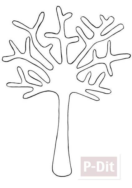 รูป 5 การ์ดต้นไม้กระดาษ ประดับเมล็ดทาสีสวย