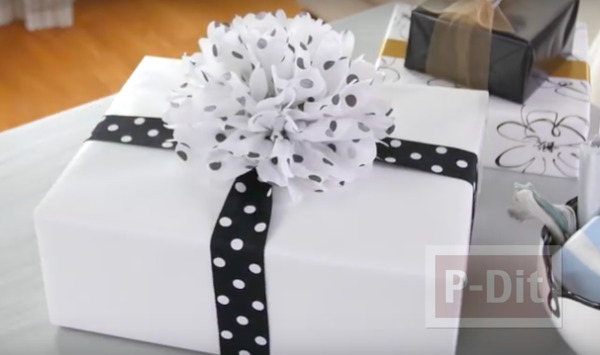 คลิปสอนทำโบว์กระดาษ ตกแต่งกล่องของขวัญ