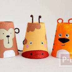 กิจกรรมสนุกๆ เปลี่ยนแก้วน้ำกระดาษเป็นสัตว์