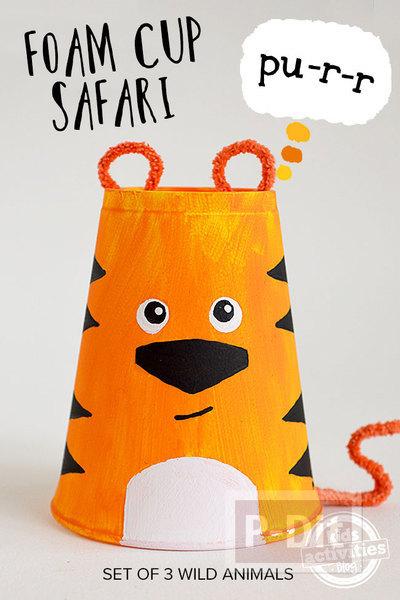 รูป 2 กิจกรรมสนุกๆ เปลี่ยนแก้วน้ำกระดาษเป็นสัตว์