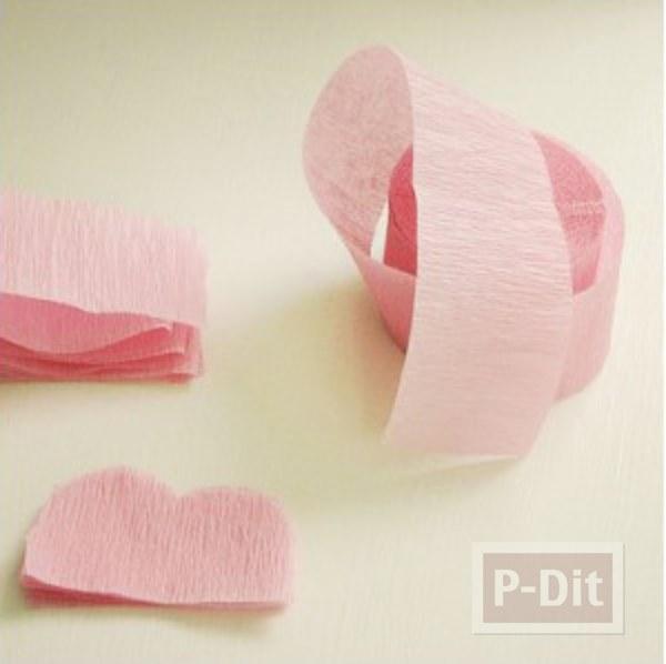 รูป 2 สอนทำดอกไม้ กระดาษย่น ประดับกล่องของขวัญ