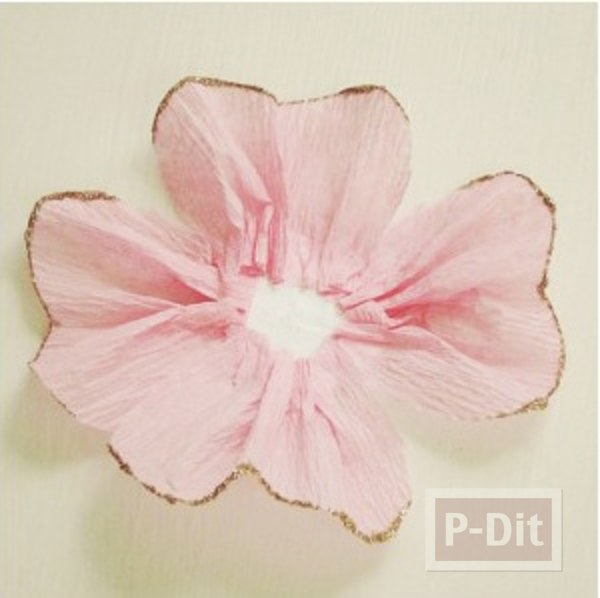 รูป 6 สอนทำดอกไม้ กระดาษย่น ประดับกล่องของขวัญ