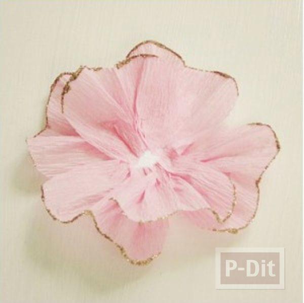 รูป 7 สอนทำดอกไม้ กระดาษย่น ประดับกล่องของขวัญ