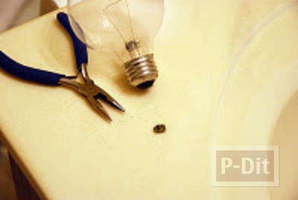 รูป 5 ที่เดียทำที่ทับกระดาษ รูปหัวใจ ใส่หลอดไฟ