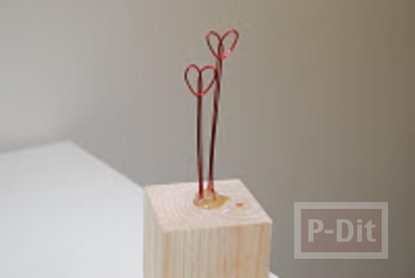 รูป 7 ที่เดียทำที่ทับกระดาษ รูปหัวใจ ใส่หลอดไฟ