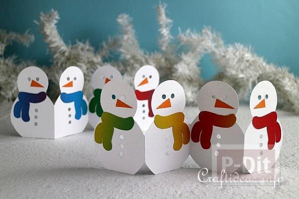 รูป 1 Snow man กระดาษ ประดับเทศกาลคริสต์มาส