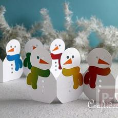 Snow man กระดาษ ประดับเทศกาลคริสต์มาส