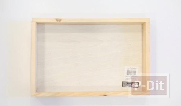 รูป 2 กระปุกออมสิน ทำจากกล่องไม้ กระจกใส
