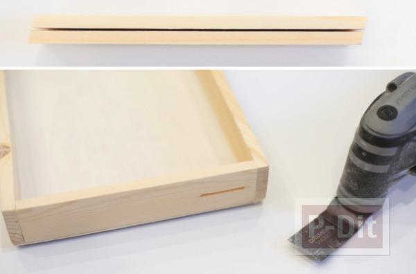 รูป 3 กระปุกออมสิน ทำจากกล่องไม้ กระจกใส