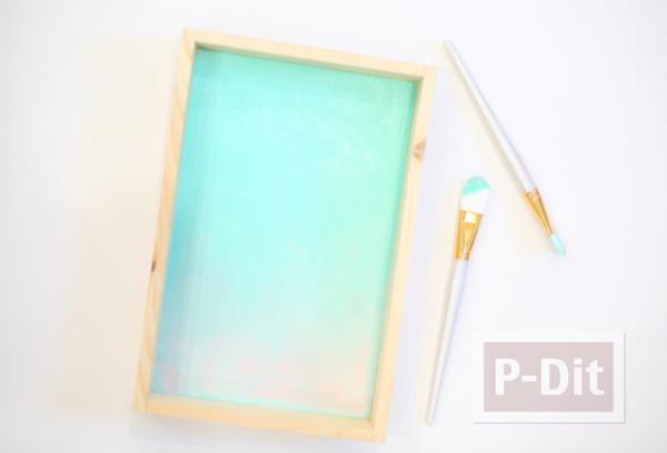 รูป 4 กระปุกออมสิน ทำจากกล่องไม้ กระจกใส