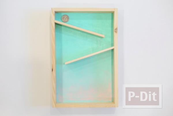 รูป 5 กระปุกออมสิน ทำจากกล่องไม้ กระจกใส