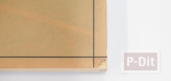 รูป 6 กระปุกออมสิน ทำจากกล่องไม้ กระจกใส