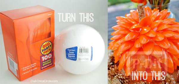 รูป 2 ไอเดีย ทำของประดับ จากลูกบอลโฟมและช้อนพลาสติก