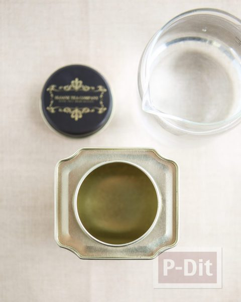 รูป 2 สอนทำนาฬิกาตั้งโต๊ะ ประดับกระป๋องชาเก่าๆ