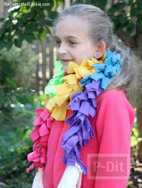 รูป 6 ไอเดียทำผ้าพันคอ จากเศษผ้า