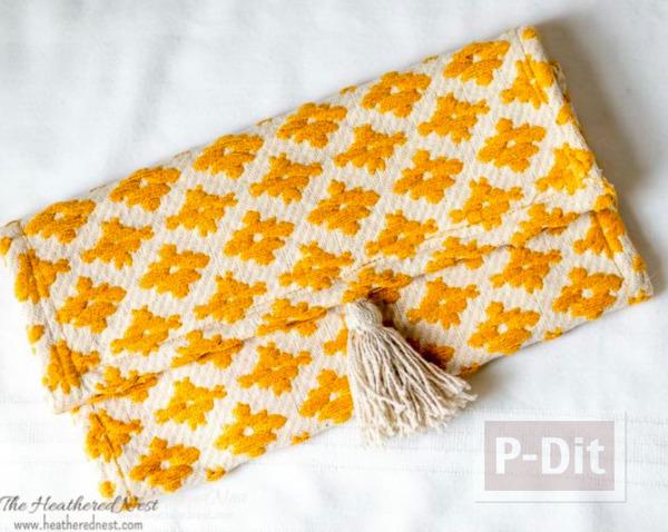 รูป 6 ไอเดียทำกระเป๋าถือ จากผ้ารองจาน