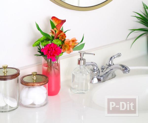 รูป 3 แจกันแก้ว พ่นสีสวย ประดับบ้าน