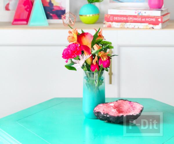 รูป 5 แจกันแก้ว พ่นสีสวย ประดับบ้าน