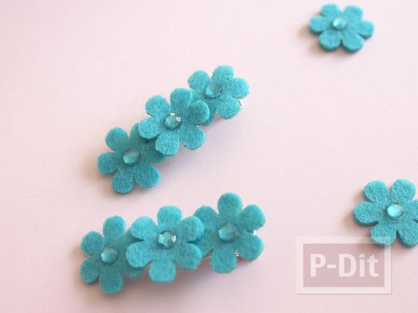 รูป 5 กิ๊บติดผมสวยๆ ประดับเพชรพลาสติก ดอกไม้ผ้า